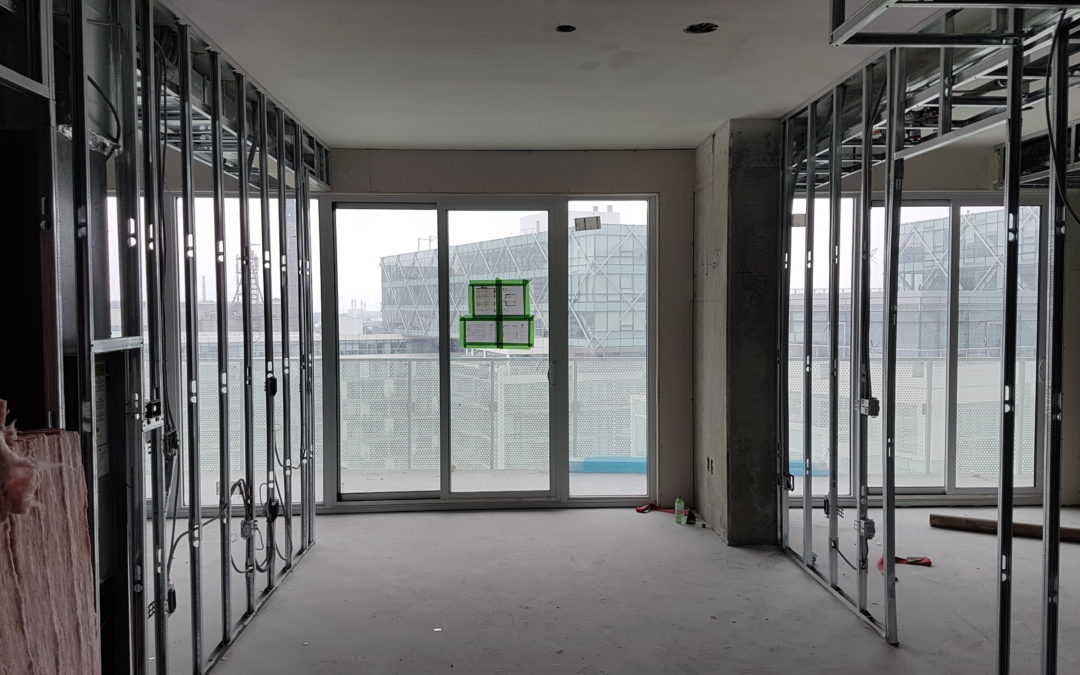 Alarm Testing in Phase 3 Tower & Interior work ongoing, December 10, 2019