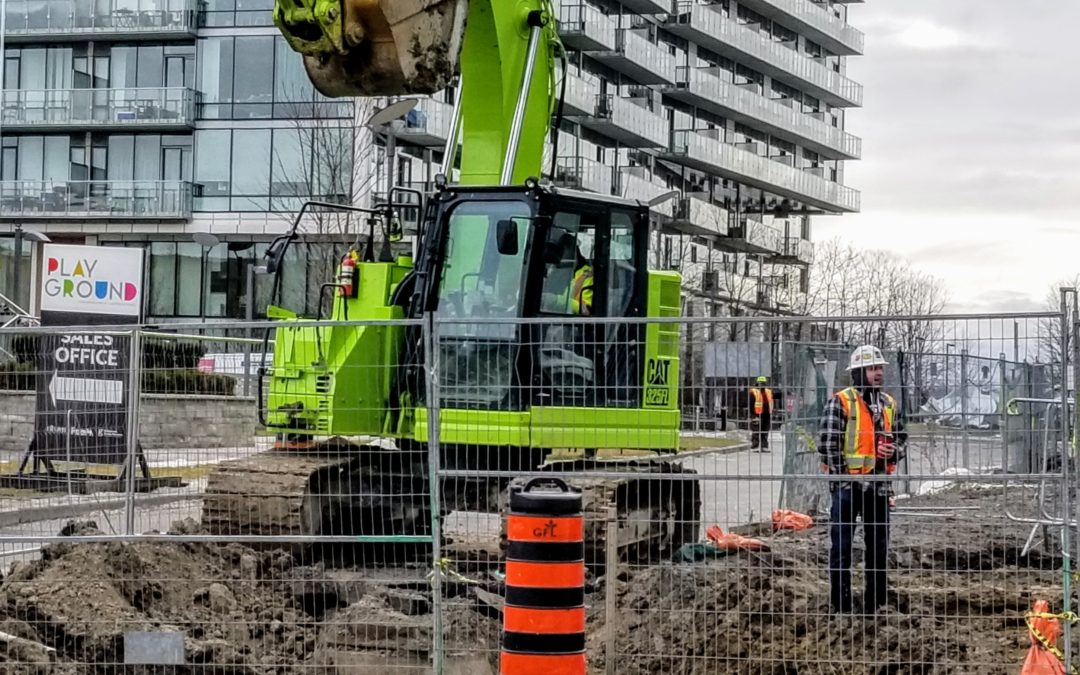 GFL Work underway on the main driveway at Pier 27, January 27, 2020