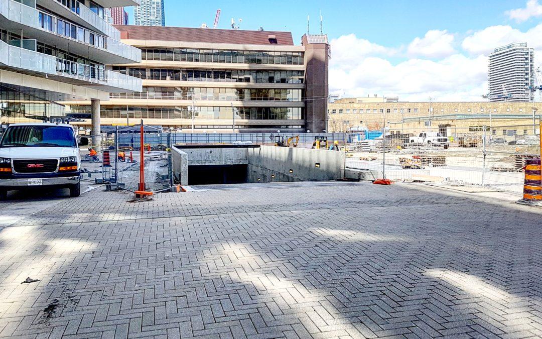 Construction Look Ahead for 15 Queens Quay East at Pier 27, April 9 2020