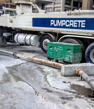 Concrete pump.